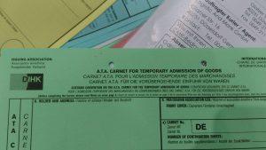 Carnet A.T.A. für die Vorübergehende Einfuhr von Waren